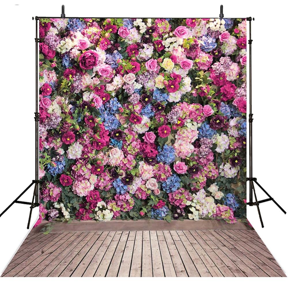 Floral Wedding Photography Backdrops Flowers Vinyl