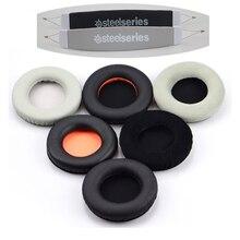 Audio Stirnband Kissen Kopf band Pads + Ohr pad Ohrpolster Für SteelSeries Sibirien V1 V2 V3 Prism Gaming Kopfhörer Headsets