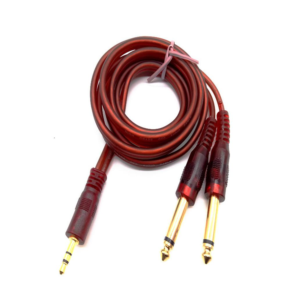 1.5M 3.5mm To 6.35mm Jack Plug Cable Connector Audio Lead Mixer Power Amplifier Wire Cord Autoradio Speaker Cable