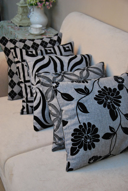 best selling grey black fabric sofa decoration car living room chair back pillow cushion cover
