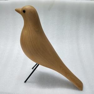Image 3 - Uccello di legno della mascotte del regalo di compleanno del mestiere di arte della decorazione della casa delluccello della casa del faggio