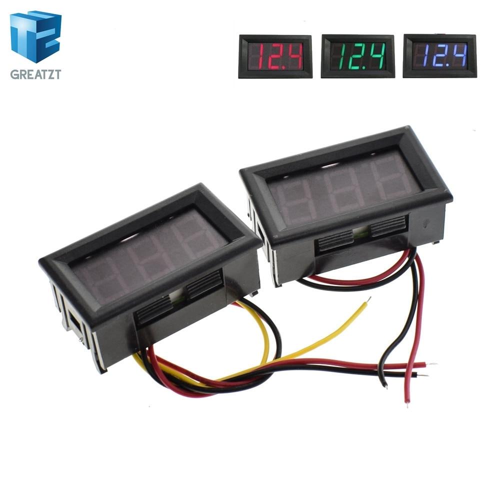 0.56 Inch Mini Red Green Blue LED Display Panel Voltage Meter Voltmeter Home Use Voltage 3 Three Digital DC 4.5V 30V 2  3 Wires