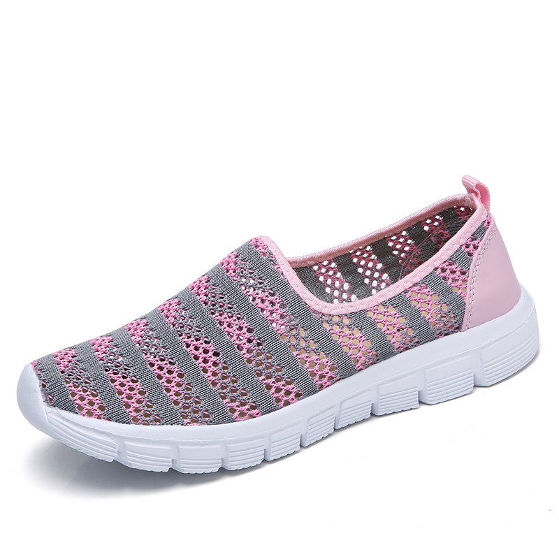 STQ 2019 Autumn women shoes women Breathable Mesh sneakers shoes ballet flats ladies slip on flats loafers shoes Plus size E39