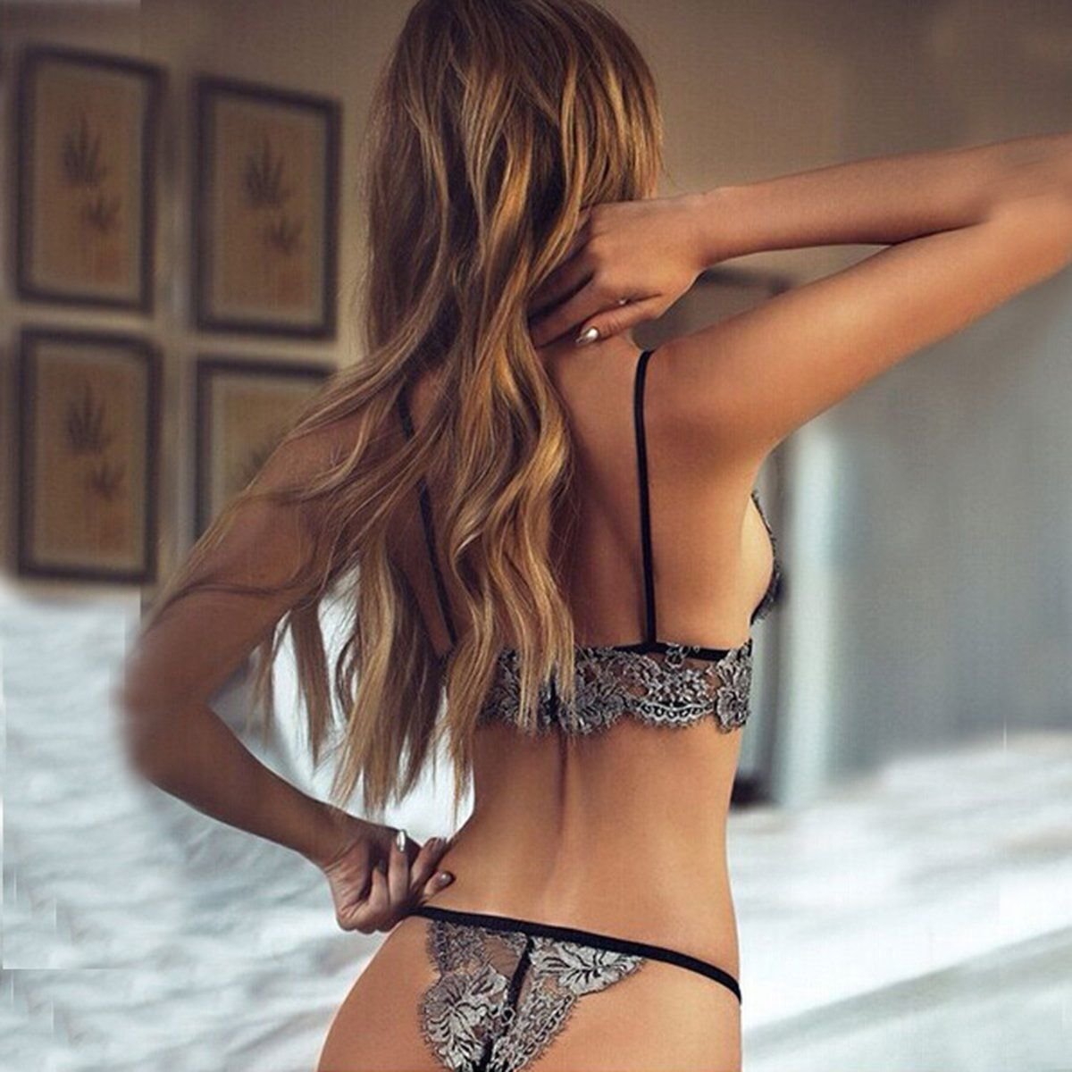 67ace01fc6ea sexy T pants romantic temptation lace bra set young women underwear set  lade bra and panty set-in Bra & Brief Sets from Women's Clothing &  Accessories on ...