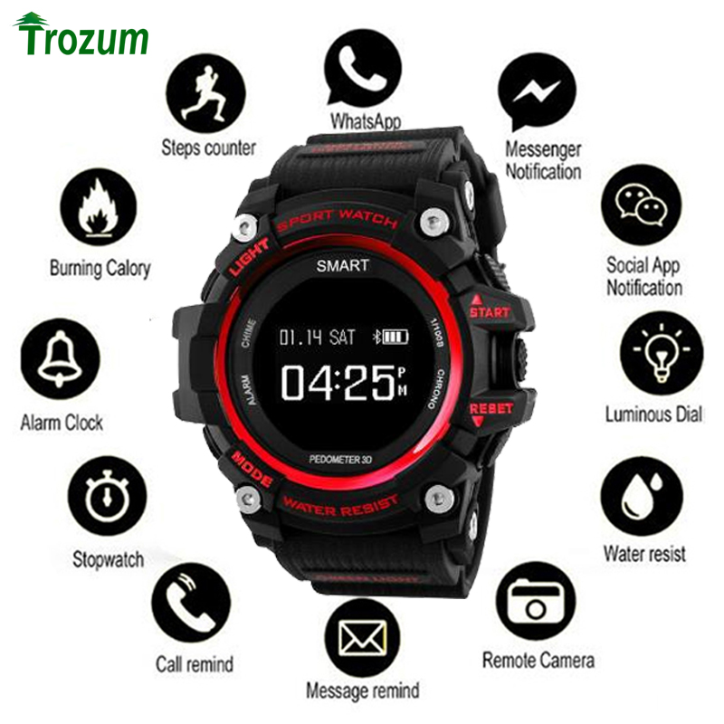 Bluetooth Clock EX16 Smart Watch Notification Remote Control Pedometer Sport BRACELET IP67 Waterproof Men's Wristwatch BAND