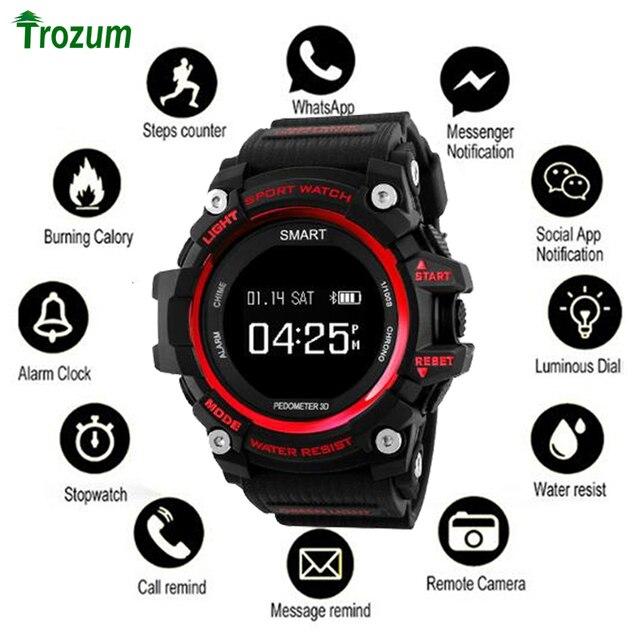 Bluetooth שעון EX16 חכם שעון הודעת שלט רחוק פדומטר ספורט צמיד IP67 עמיד למים גברים של שעוני יד בנד