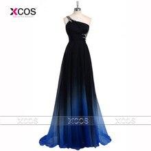 Последние ломбер выпускного вечера на одно плечо градиент вечерние платья бусины 2016 особых поводов платье спинки Vestidos де băile SA265