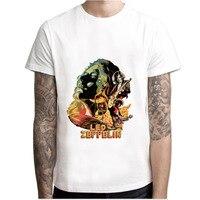 LEQEMAO Led Zeppelin T Shirt Men Print T Shirts Fashion Print T Shirts Short Sleeve O