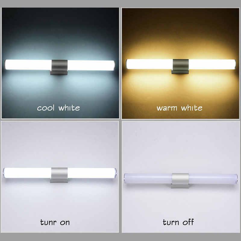 Акриловые современные светодиодные Настенные светильники для фойе гостиная спальня ванная комната лампа 25 см 40 см 55 см бра настенная лампа, зеркало для ванной комнаты