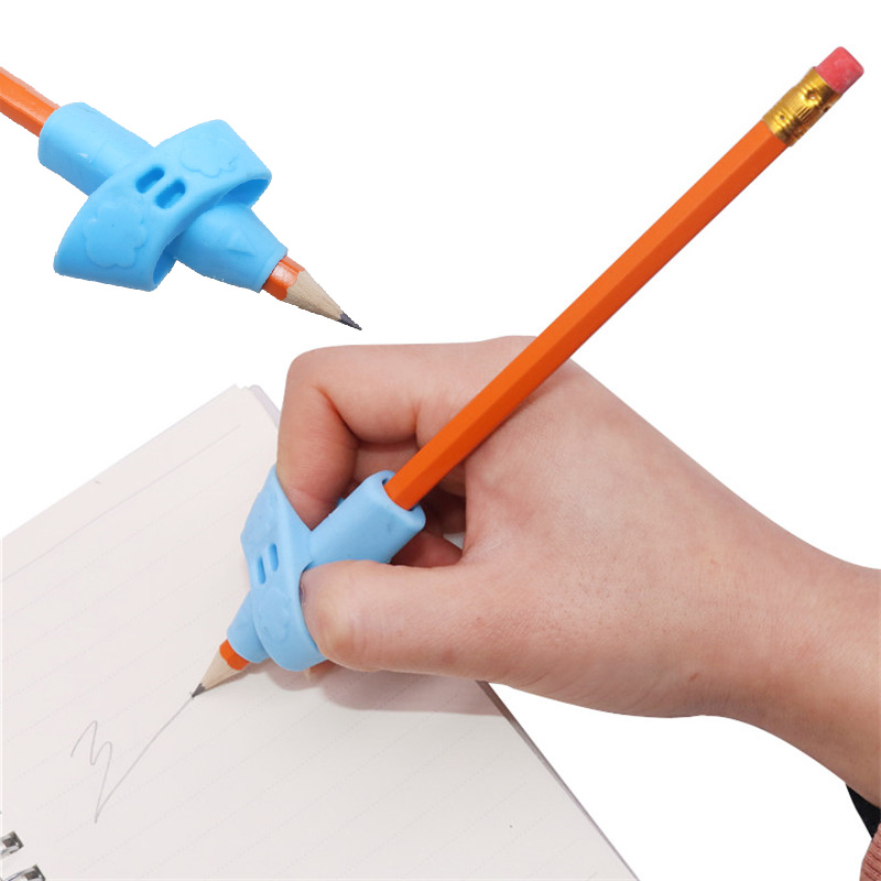 3 Pcs Pen Grip Two Finger Writing Posture Correction Pen Grip Children Students Learning To Stationery Silicone Pencil Handle