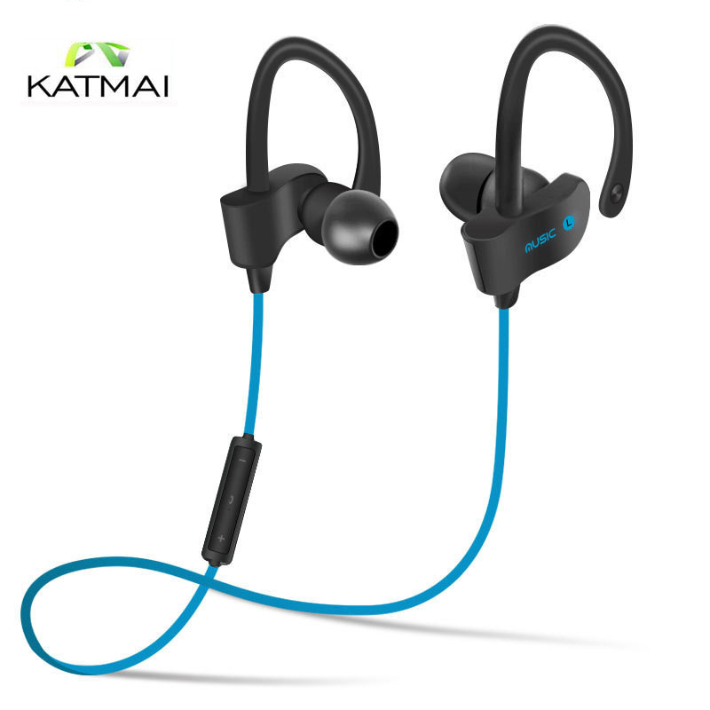 KATMAI 2017 Sports Bluetooth Earphone Stereo Wireless Headset In-Ear phone with Microphone For Iphone Xiaomi fone de ouvido 2017 new 2 in 1 mini bluetooth headset phone usb car charger fone de ouvido micro earpiece wireless earphone for xiaomi mi6 mi 6