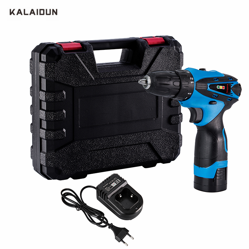 KALAIDUN 16.8V Electric Drill Mobile Power Tools Electric Screwdriver Lithium Battery Cordless Impact Drill With Extra Toolbox impact electric drill multi functional combination of electric screwdriver toolbox set hardware electrical toolbox