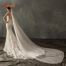 3 Meters High Quality Tulle Veil for Bridal Cathedral Long Wedding Veils 1Meter/ 2 On Sale mantilha de noiva V121