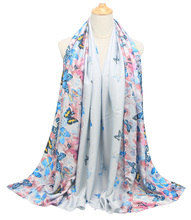 Fashion Satin Shawl Female Scarf Women Shawls And Wrap Hijab FJ059