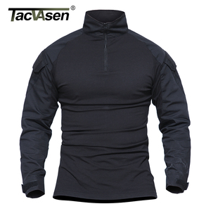 Image 3 - TACVASEN Camouflage T shirts Men Army Combat Tactical T Shirt Male Airsoft Military Clothing Long Sleeve Cotton Assault T Shirts