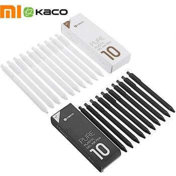 Wholesale Original Xiaomi Mijia KACO 0.5mm Xiomi Mi Signing P E N Gal Ink Smooth Writing Durable Signing Black Refill 10Pcs/Lot