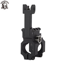 SINAIRSOFT Tactical Clamp-On Gas Block with Folding Front Sight CNC Aluminum Machined Iron For Rifle Hunting Accessories