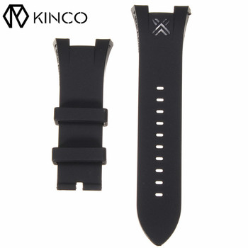 Fashion Replacement Black Silicone Highest Quality PVC Soft Comfortable Rubber Wirst Watch Bands Strap For Armani Replaceable