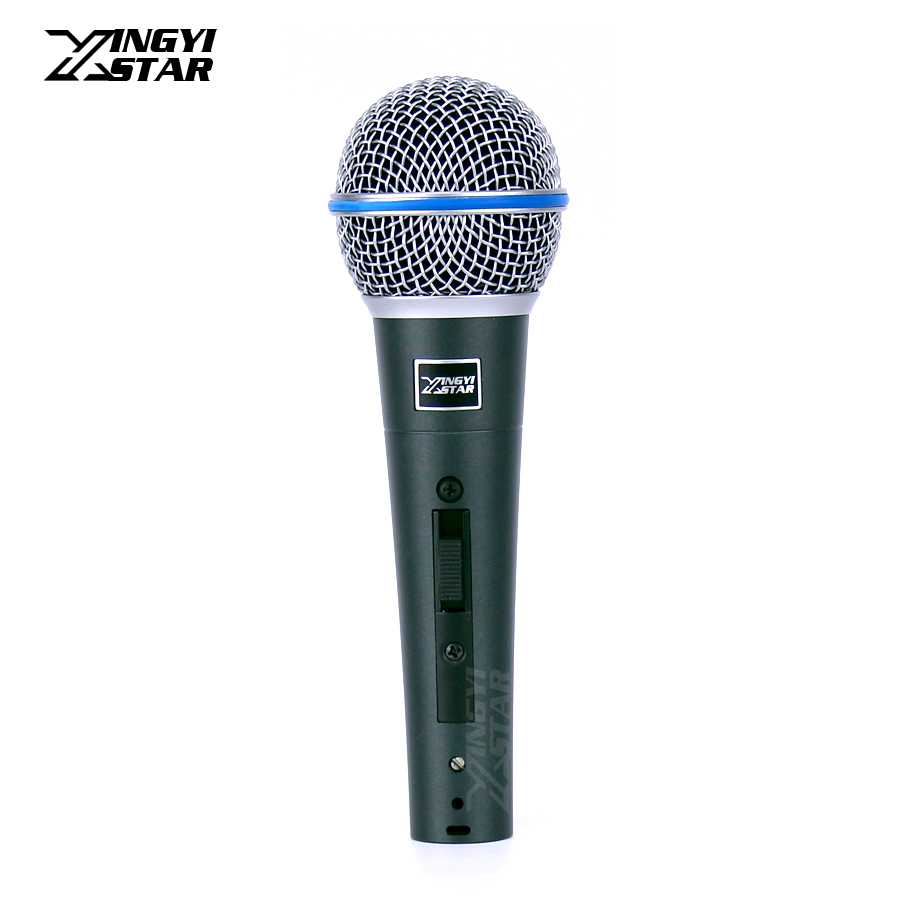 BETA58A Professional Handheld Switch Vocal Dynamic Microphone Mike For BETA 58A 58 Studio Singing Home Party KTV Speech Karaoke