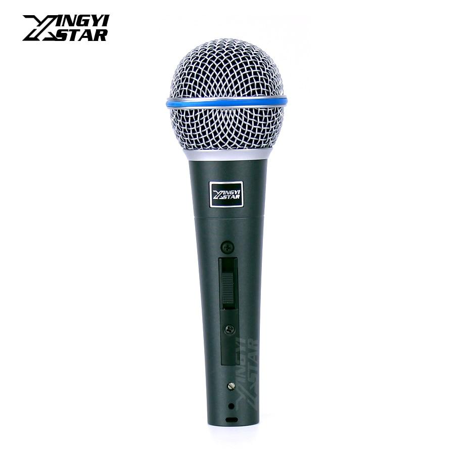Mikrofone Beta58a Professionelle Handheld Schalter Gesangs Dynamisches Mikrofon Mike Für Beta 58a 58 Studio Singen Home Party Ktv Rede Karaoke SchöNe Lustre Live-geräte