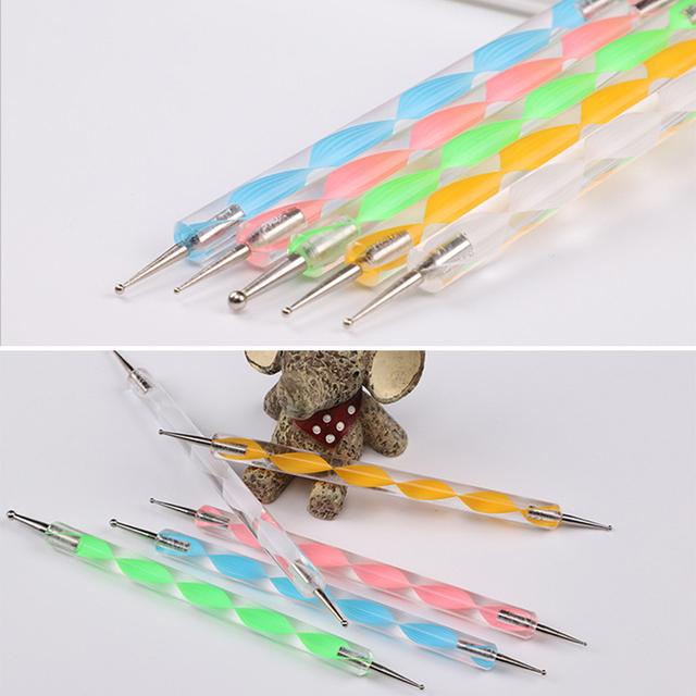 Dual End DIY Nail Art Painting Acrylic Pen