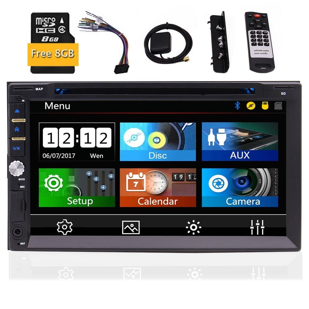 Eincar Car Stereo DVD CD Player GPS Navigation Radio Video Audio Bluetooth 7 Inch Capacitive Touch Screen SD,USB,Radio,FM,AM car audio stereo car cd dvd player fm radio with digital lcd screen