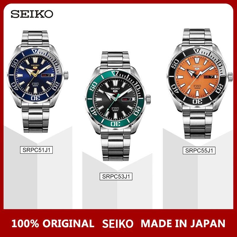 100% Original Seiko 5 Sprots Relógio Swming 10 Bar Mergulho À Prova D' Água Mecânico Automático dos homens relógios de Pulso Garantia Global