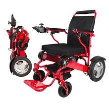 Портативная Складная легкая электрическая инвалидная коляска с литиевой батареей может носить на самолете