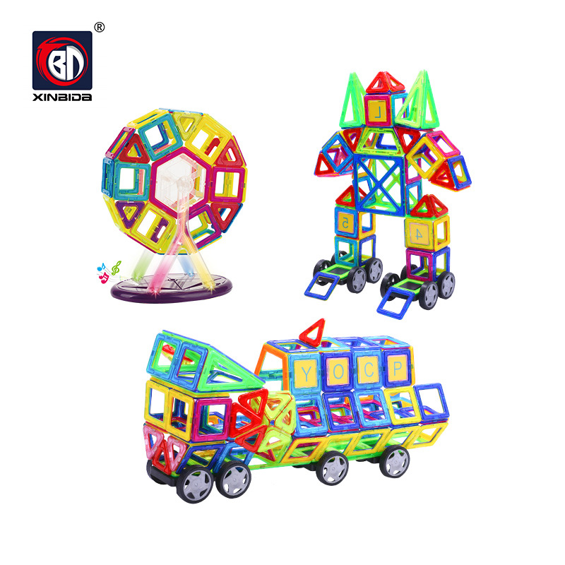BD de construction MagnétiquesBlocPuzzleJouets magiques éducatifs à la vapeur pour les enfants