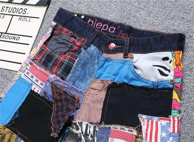 Colorful Jeans Men Denim Pant Patch Jeans Slim Fit Fashion Designer Jeans Fashion Show Jeans Denim Men 4