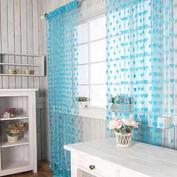 2018 kreative Neuheit Herz Decor Fenster Zimmer Linie Vorhang String Quaste Tür Vorhang Teiler String Vorhang