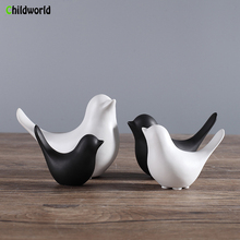 Modern Minimalist Nordic Ceramic Bird Figurines Home Decoration Accessories Sculpture Statue Animal Model Holiday party gifts