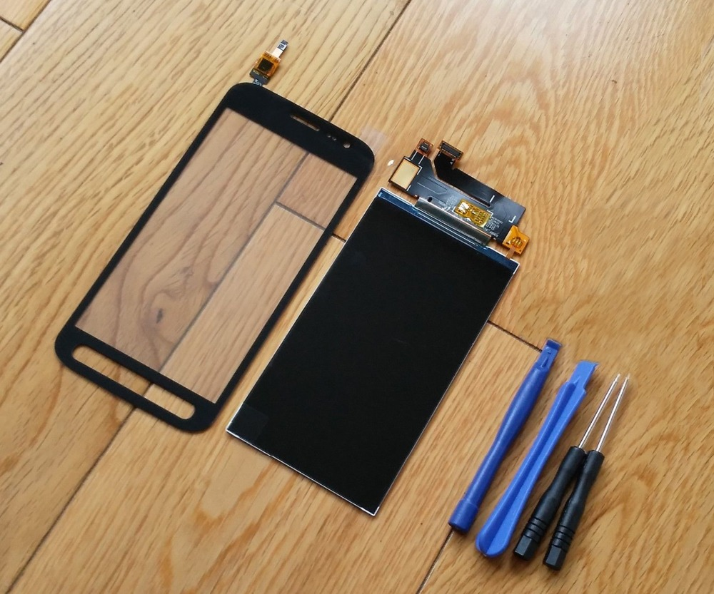 For Samsung Galaxy Xcover 4 G390 SM G390F Touch Screen Digitizer Sensor + LCD Display Screen + Adhesive|Mobile Phone LCD Screens| |  - title=