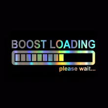Car-Sticker Boost-Loading Turbo Decals for Funny And Vinyl on 14cm--5cm Please-Wait 3D