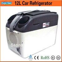 12l холодильник автомобиля 12 В портативный охлаждения и нагрева холодильник с морозильной камерой мини Холодильник Cooler коробка для дома/пут