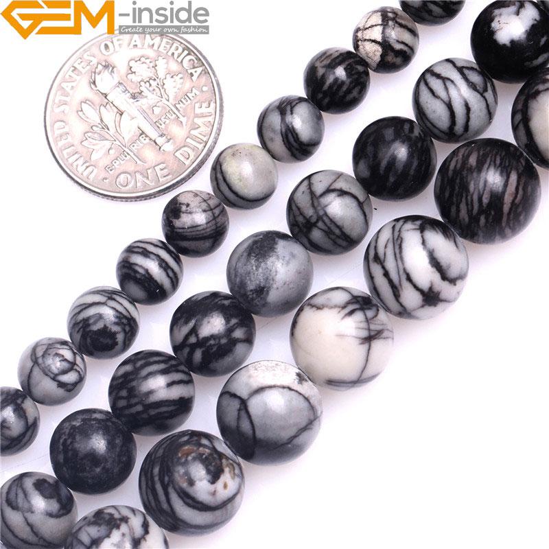 "10 Mm Picasso Jasper Stone Round Ball Loose Bead 15/"""