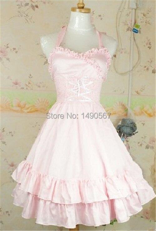 Robe Lolita douce Costumes d'halloween pour femmes Costume de princesse adulte robe de bal robe Lolita gothique taille libre rose