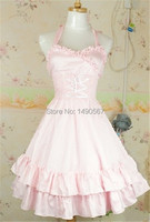 Sweet Lolita Dress Halloween Costumes for Women Adult Princess Costume Ball Gown Gothic Lolita Dress Free Size Pink