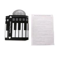 Portable Roll Up 49 Keys Soft Electronic Digital Keyboard Piano Music Instrument Drop Ship