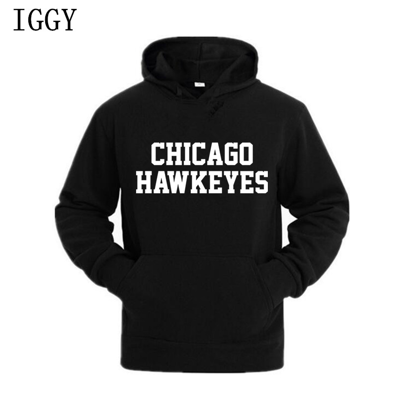 IGGY New City Letter Print Black Sweatshirt Men Hoodies Fashion Solid Hoody Men Pullover Men's Tracksuits male coats M-XXXL