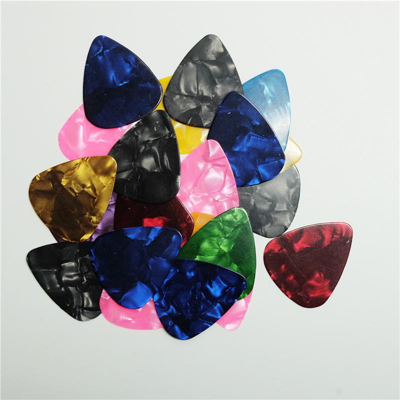 100pcs Acoustic Electric Guitar Picks Parts Acoustic Celluloid Plectrum Multi 0.46/0.71mm Classical Guitar Picks