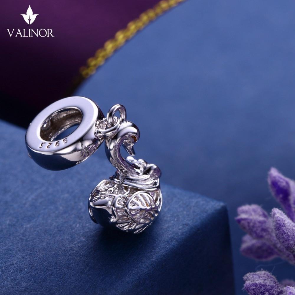 Video! Labod obesek iz srebra 925 kroglice s šarlingom se prilega - Modni nakit - Fotografija 5