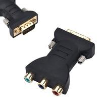 Цифровые кабели RCA RGB видео Женский в HD 15-Pin VGA компонент видео конвертер адаптер ТВ lcd#25
