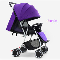 2017 Poussette Babies Strollers Factory Direct Stroller Can Sit or Lie Folded Stroller Baby Throne Durability 3 years Purple,Red