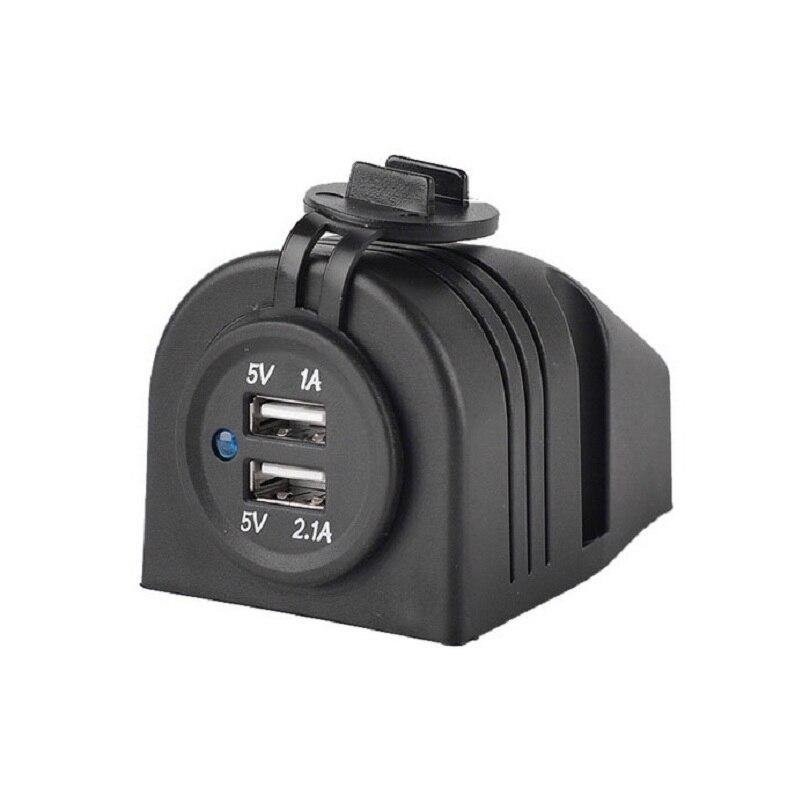 Étanche Double USB Chargeur Allume-cigare Adaptateur 12-24 V 2.1A/1.0A Panneau pour Voiture De Moto Bateau Marine Carvan