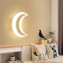 الحديثة الحد الأدنى LED القمر الجدار مصابيح غرفة المعيشة شرفة الدرج الممر الممر نوم الاكريليك تركيب المصابيح