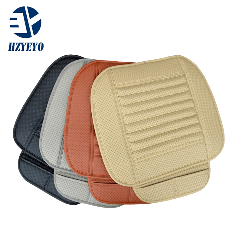 HZYEYO Faux Leather Car Seat Cushion Four Season Use Car