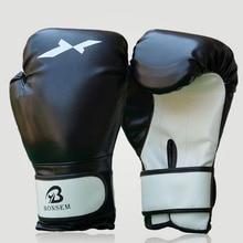 1 Pair Training Boxing Gloves Boxing Mitts Sanda Karate Sandbag Taekwondo Fighting Hand Protector Gloves Black