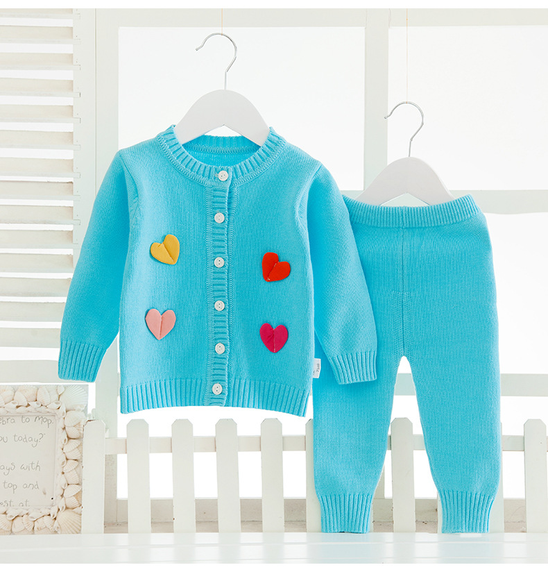 Toddler Baby Clothing Baby suit Outfit Long Sleeve 6-18Month Knitted Cardigan Baby boys/girls Sweater+Pants Clothes Set Winter toddler baby winter knitted sweater cardigan baby boys girls clothes set long sleeve infant garment baby suit outfit 0 2 years