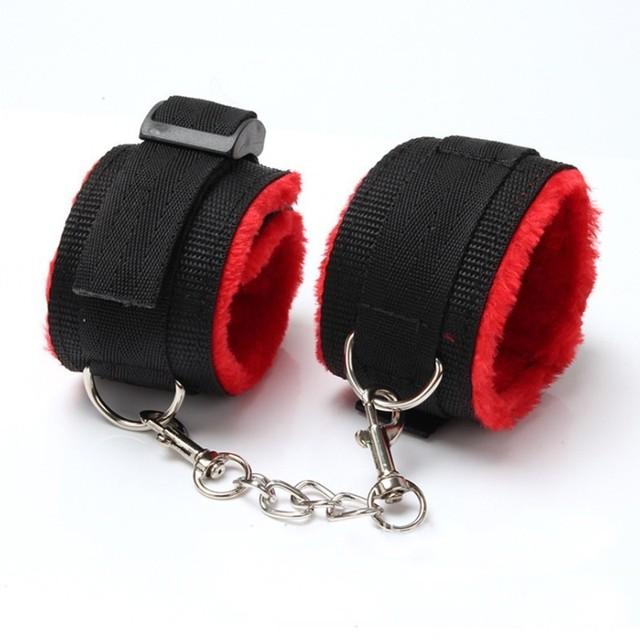 Sex Handcuffs Whip Rope Sex Bondage Restraint Set Anal Plug Bullet Vibrator Sex Toys for Couples BDSM Bondage Exotic Accessories